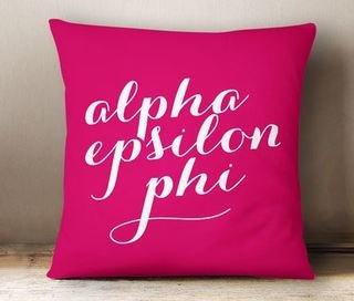 Alpha Epsilon Phi Script Pillow