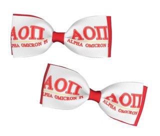 Alpha Omicron Pi Bows (Set of 2)