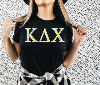 Kappa Delta Chi Lemon Zest Lettered Short Sleeve T-Shirt