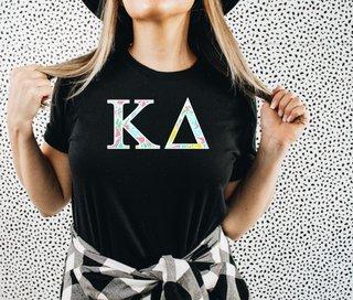 Kappa Delta Lemon Zest Lettered Short Sleeve T-Shirt