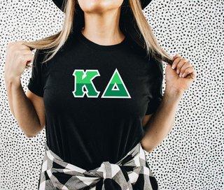 Kappa Delta Two Tone Greek Lettered T-Shirt