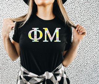 Phi Mu Lemon Zest Lettered Short Sleeve T-Shirt