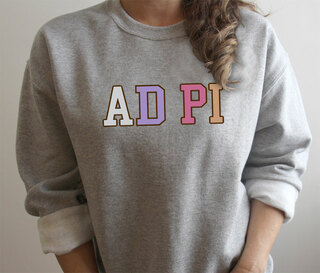 Alpha Delta Pi Nickname Crew Sweatshirt