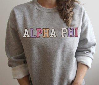 Alpha Phi Nickname Crew Sweatshirt