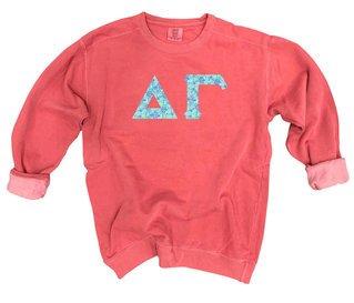 Delta Gamma Comfort Colors Lettered Crewneck Sweatshirt