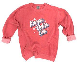 Kappa Delta Chi Comfort Colors Flashback Crew