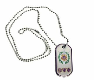 Omega Psi Phi Reversible Dog Tags