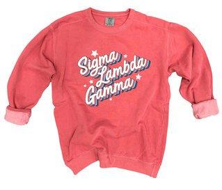 Sigma Lambda Gamma Comfort Colors Flashback Crew