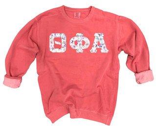 Theta Phi Alpha Comfort Colors Lettered Crewneck Sweatshirt
