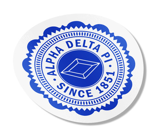 "Alpha Delta Pi 5"" Sorority Seal Bumper Sticker"