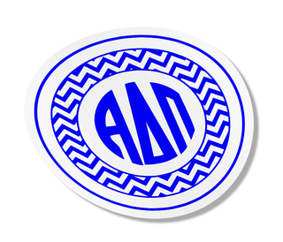 Alpha Delta Pi Sorority Monogram Bumper Sticker