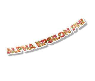 "Alpha Epsilon Phi Floral Long Window Sticker - 15"" long"