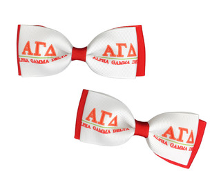 Alpha Gamma Delta Bows (Set of 2)