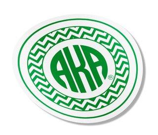 Alpha Kappa Alpha Sorority Monogram Bumper Sticker
