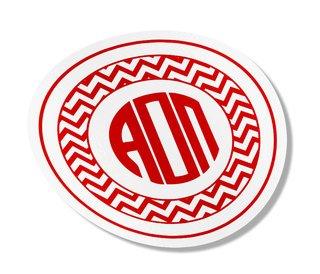 Alpha Omicron Pi Sorority Monogram Bumper Sticker