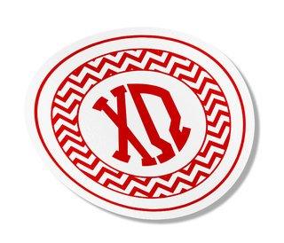 Chi Omega Sorority Monogram Bumper Sticker