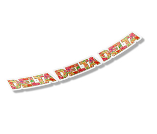 "Delta Delta Delta Floral Long Window Sticker - 15"" long"