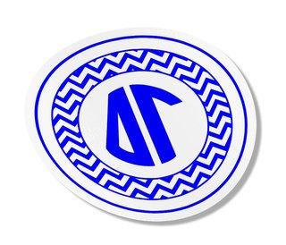 Delta Gamma Sorority Monogram Bumper Sticker