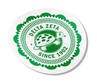 """Delta Zeta 5"""" Sorority Seal Bumper Sticker"""