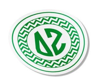 Delta Zeta Sorority Monogram Bumper Sticker