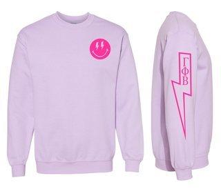 Gamma Phi Beta Comfort Colors Lightning Crew Sweatshirt