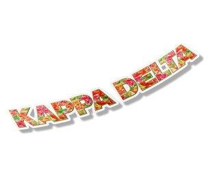 """Kappa Delta Floral Long Window Sticker - 15"""" long"""