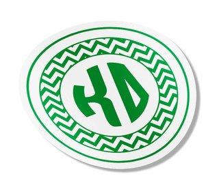 Kappa Delta Sorority Monogram Bumper Sticker