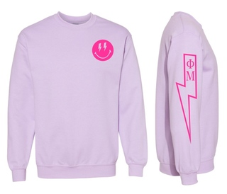 Phi Mu Comfort Colors Lightning Crew Sweatshirt