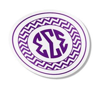 Sigma Sigma Sigma Sorority Monogram Bumper Sticker
