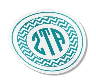 Zeta Tau Alpha Sorority Monogram Bumper Sticker