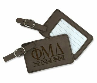 Phi Mu Delta Leatherette Luggage Tag
