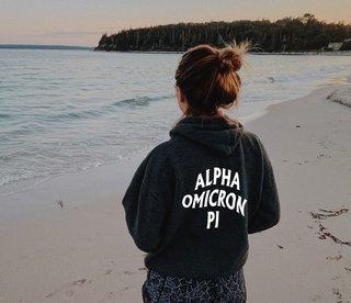 Alpha Omicron Pi Social Hoodie