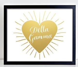 Delta Gamma Heart Burst Foil Print