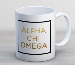 Alpha Chi Omega Faux Foil Coffee Mug