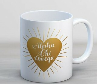 Alpha Chi Omega Heart Burst Coffee Mug