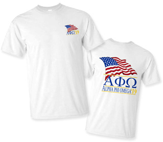 Alpha Phi Omega Patriot Limited Edition Tee- $15!