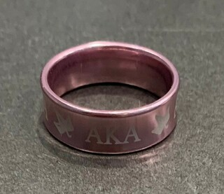 New Super Savings - Alpha Kappa Alpha Ring - PINK size 8 1 of 2