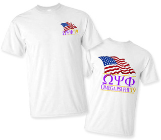 Omega Psi Phi Patriot Limited Edition Tee- $15!
