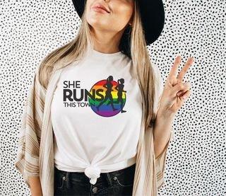 She Runs This Town Pride Tee