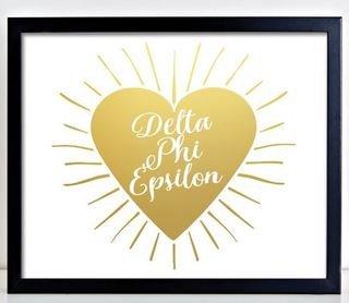 Delta Phi Epsilon Heart Burst Foil Print