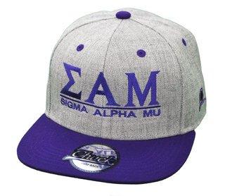 Sigma Alpha Mu Flatbill Snapback Hats Original