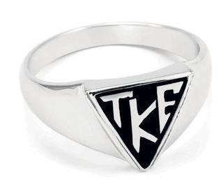 Tau Kappa Epsilon Sterling Silver House Plate Ring