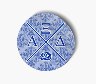 Alpha Xi Delta Well Balanced Round Decals