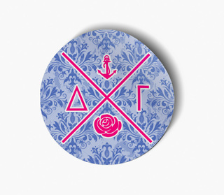 Delta Gamma Well Balanced Round Decals