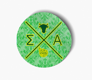 Sigma Alpha Well Balanced Round Decals