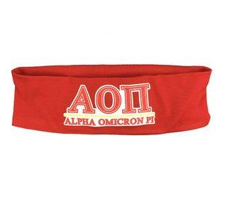Alpha Omicron Pi Cotton Stretch Headband