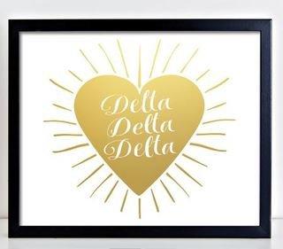 Delta Delta Delta Heart Burst Foil Print