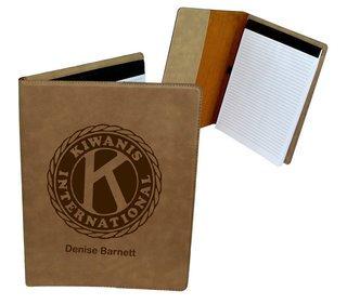 Kiwanis Leatherette Portfolio with Notepad
