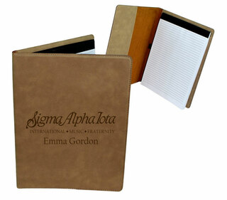Sigma Alpha Iota Mascot Leatherette Portfolio with Notepad