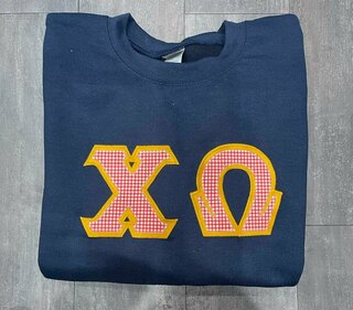 The New Super Savings - Chi Omega Custom Twill Crewneck - NAVY